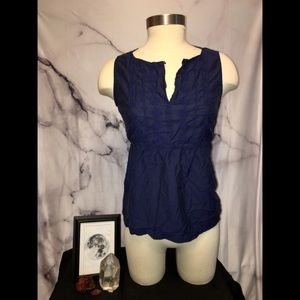 GAP Dark Blue Sleeveless Blouse